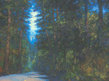 Through the Tall Trees II, 30 x 40 inches, oil on canvas